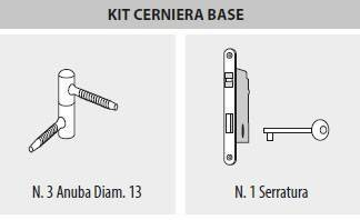 Kit cerniera base